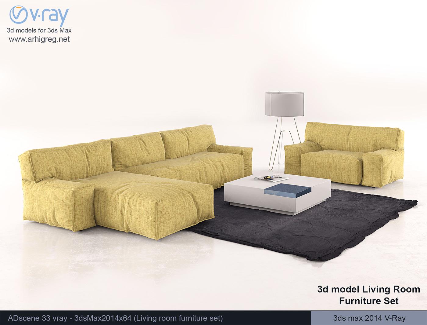 3d model living room furniture set french provincial living room set home design