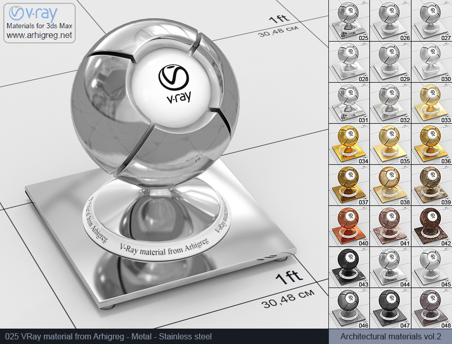 vray steel material 3ds max download