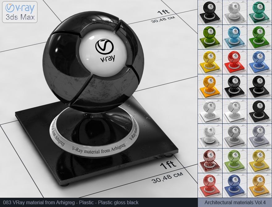 Vray plastic material free download - Glossy black plastic (083)