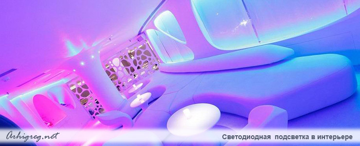 LED lights in Interiors